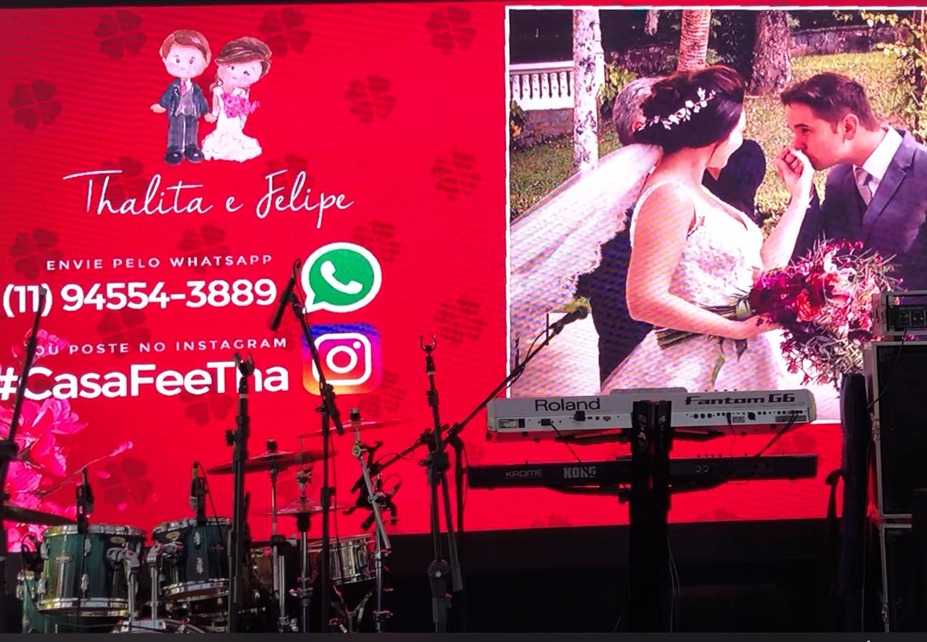 TagFesta Telão Casamento
